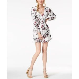 American Rag Fit & Flare Floral Dress White NEW